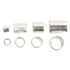 Beadalon Crimp Tube Variety Pack #1-4 Plated Silver